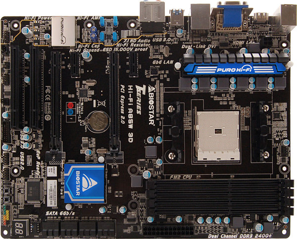 Hi-Fi A85W 3D AMD Socket FM2 gaming motherboard