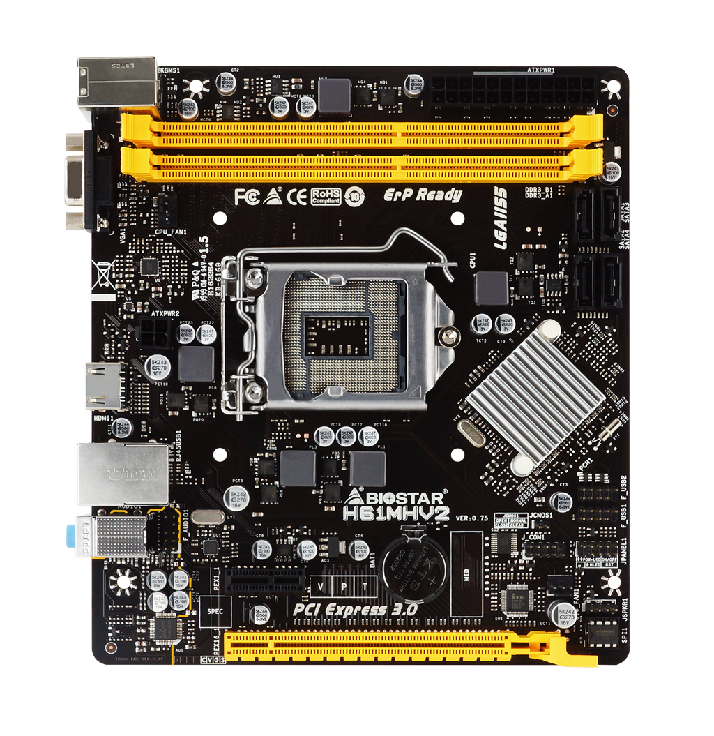 H61MHV2 INTEL Socket 1155 gaming motherboard